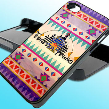 Disney Tribal Forever Young for iPhone 4/4s Case - iPhone 5 Case - Samsung S3 - Samsung S4 - Black - White (Option Please)