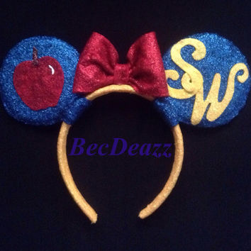 Disney Snow White Minnie Mouse Ears headband