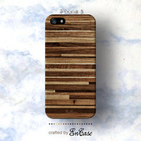 wood pattern print, 3D-sublimated, Mobile accesories, Unique iPhone 4 case, iPhone 4S case, iPhone 5 case.