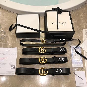 GUCCI GG leather belt - Women