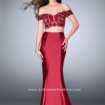 Gigi 24413 Two Piece Prom Dress