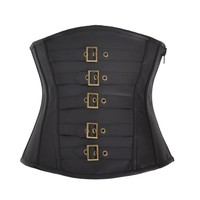Luxury Sexy Lady Leather Underbust Corset Bustier
