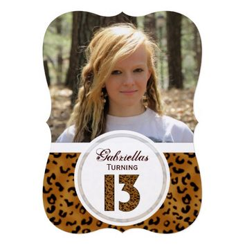 Leopard 13th Birthday: Picture:Party Invitation