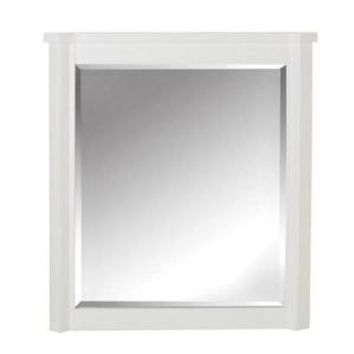 Home Decorators Collection Barcelona 32 in. L x 28 in. W Framed Wall Mirror in White 9155600410 at The Home Depot - Mobile