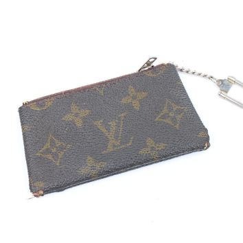Auth Louis Vuitton monogram Keychain purse wallet RARE