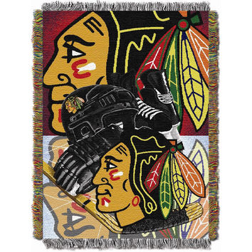 Chicago Blackhawks NHL Woven Tapestry Throw (Home Ice Advantage) (48x60)