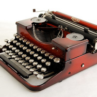 Red Typewriter, Royal Portable 1930s