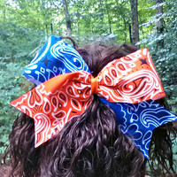 University of Florida UF Gator Spirit Texas Size Bandana CHEER BOW