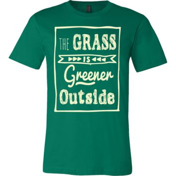 The Grass is Greener Outside - Men's Tee