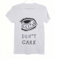 EYE DON'T CARE Tee wht