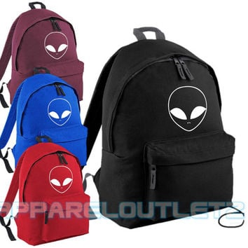 alien backpack bag ufo swag dope hipster tumblr fashion trend facedown school travel pe sports bag p.e rucksack film album tour fan unisex