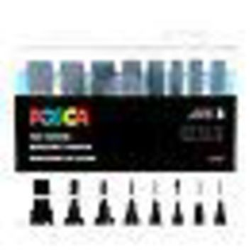 POSCA Acrylic Paint Marker Set - 8 Marker All Black Set