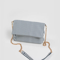 Bailey Striped Gold Chain Purse