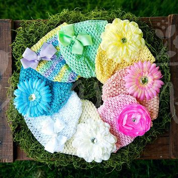 Pastel Super Soft Crocheted Hat Pack with Accessories