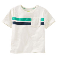 Engineered Stripe Pocket Tee