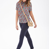Abstract Heart Print Blouse