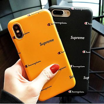 Champion & Supreme New more letter print protective cover phone case