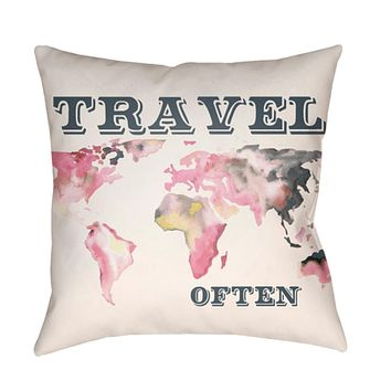 Jetset Pillow Cover - Bright Yellow, Pale Pink, White, Charcoal, Bright Pink - JT009