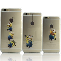 Hot Sale New Cute Minions cases for iPhone 6s 4.7 inch cover for iphone 6  Soft TPU back case  for iphone6 by Akcoo