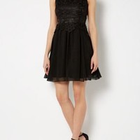 2 in 1 lace top dress