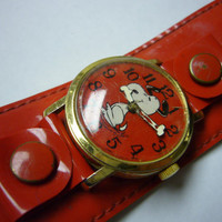 Wrist Watch Snoopy Swiss Made by Viata SA wristwatch by Watchchas