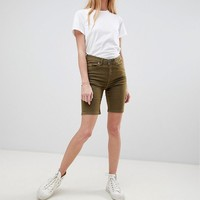 b.Young longline denim shorts at asos.com