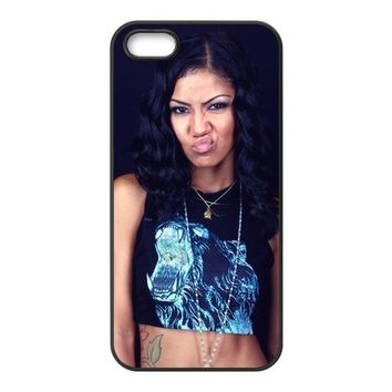 OKBUY Jhene Aiko Waterproof Plastic and Rubber TPU Cases for Iphone 5 5S,Back case