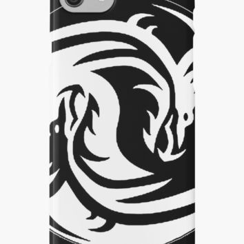 'Yin & Yang dragons, black' iPhone Case/Skin by cool-shirts
