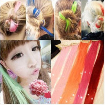 $10 (mix order) Free Shipping fashion punk personality multi-color wig hair jewelry T7384