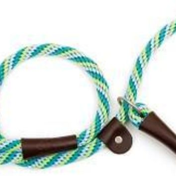 "Mendota Dog Slip Lead & Leash Small 3/8"" x 4' Seafoam"
