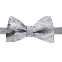 Trompe L'Oeil Grey Wood Grain Bow Tie