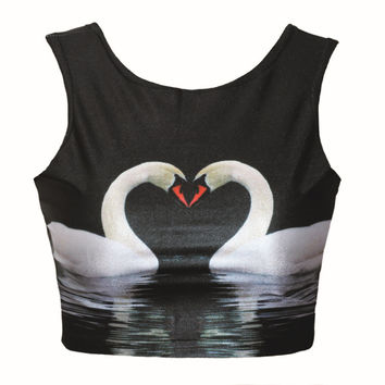 Stylish Bralette Comfortable Beach Hot Summer Strong Character Tops Print Sexy Vest [6049148673]