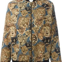 Indie Designs Saint Laurent Inspired Lion Jacquard Teddy Jacket