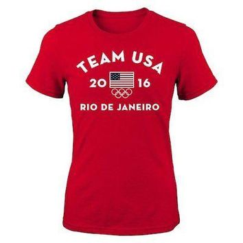 Licensed Sports Team USA Women's 2016 Olympics Very Official T-Shirt - Red KO_20_2