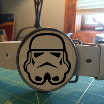 Storm Trooper Belt buckle Star wars themed (With belt of your choice)