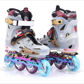 Adult inline skates professional rollerblade roller sneakers skating men and women figure Skating roller skate shoes