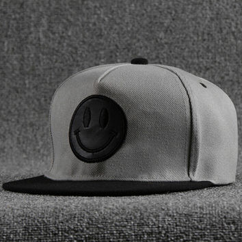 Gray Embroidery Cap Cool Hat