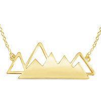 Geometric Mountain Range Necklace for