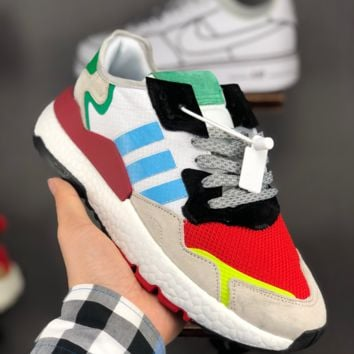 HCXX A1372 Adidas Nite Jogger EQT Boost Fashion Casual Running Shoes Red blue green