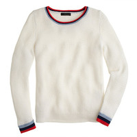 J.Crew Womens Basket-Weave Tennis Sweater