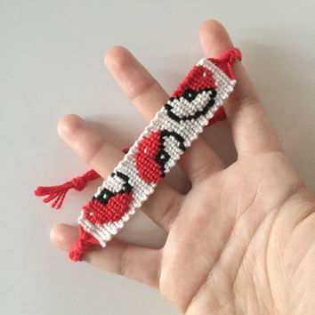 Pokéball Adjustable Alpha Friendship Bracelet