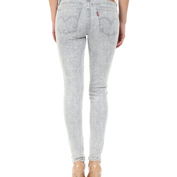 Levi's 710 0060 Womens Frosted Cobalt Super Skinny Jean Size 00 / 24 X 30