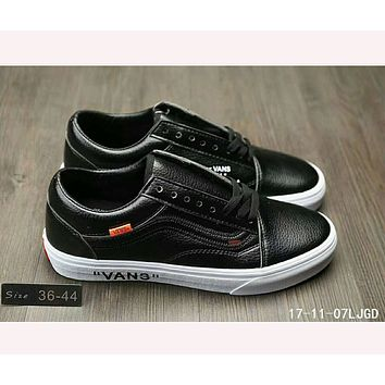 Vans OLD SKOOL X OFF- ANS joint limited edition shoes F-HAOXIE-ADXJ Black