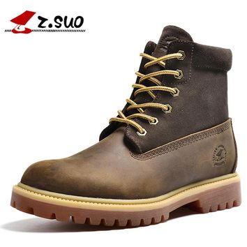 Z. Suo men  boots, leather fashion men's boots, the quality of the drum level in stitching boots man, botas hombre zs1208