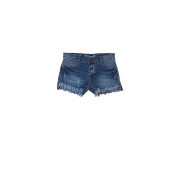 Vintage Havana Girls Button Fray Shorts