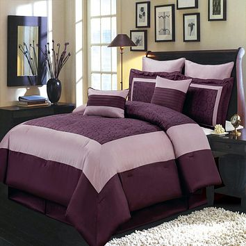 Wendy Purple Comforter Set/Bedding set