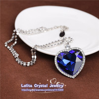 Classic Titanic the Heart Of The Ocean Sapphire Necklace Wedding/Bride Jewelry jewelry