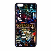 Divergent All Quote Art Collage Udn iPhone 6 Case