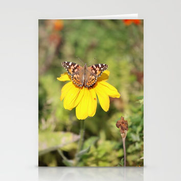Autumn Butterfly Colors Stationery Cards by Theresa Campbell D'August Art