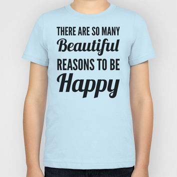 Beautiful Reasons to be Happy Kids T-Shirt by CreativeAngel